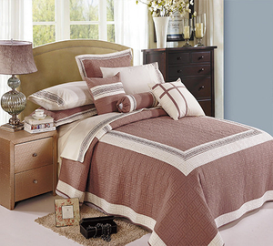 KOSMOS hot sale 100% polyester embroidery bedspread